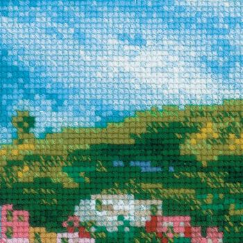 Cross-stitch kit Riolis 1702 Windmil after Pissaro's painting