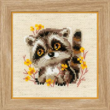 Cross-stitch kit Riolis 1754 Little Raccoon