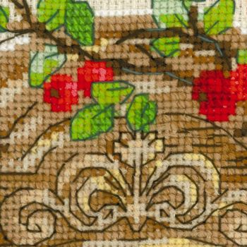Cross-stitch kit Riolis 1733 Window With Magpie