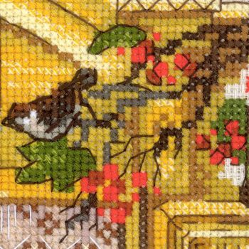 Cross-stitch kit Riolis 1732 Window With Apples
