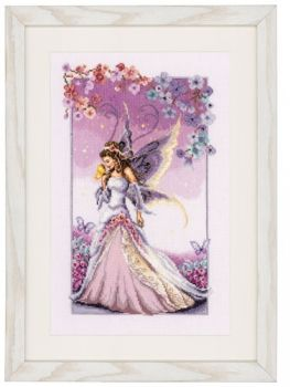 Cross-stitch kit Young lady in purple
