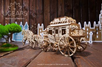 Puzzle 3D mecanic UGEARS - Stagecoach