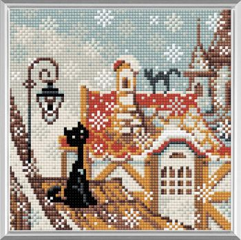 Mosaic with crystals - GIRL NEAR THE SEA AZ-1118