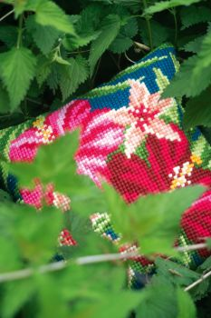 Vervaco cross stitch cushion PN- 0179546 - BOTANICAL LEAVES