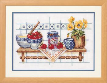 Cross-stitch kit Vervaco PN-0011893 VIOLIN WITH POPPIES