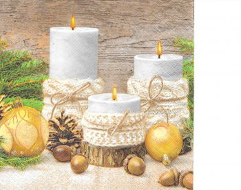 "Napkin for decoupage "" Christmas decorations 4"""