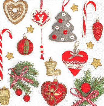 "Napkin for decoupage "" Christmas decorations 12"""
