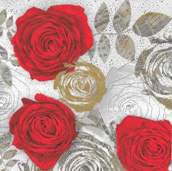 "Napkin for decoupage  ""Roses"""
