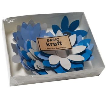 Paper flowers Basic Kraft Echinacea 21 pcs. - Pink mix