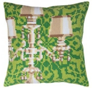 Colection D`Art cross stitch cushion 5340 Cantelabra