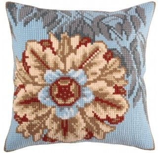 Colection D`Art cross stitch cushion 5329 Turquoise romance