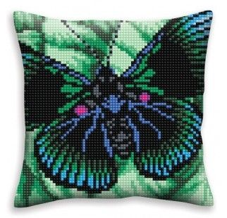 Colection D`Art cross stitch cushion 5328 Turquoise Romance 2