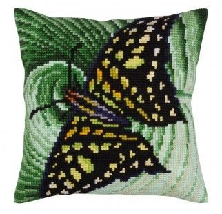 Colection D`Art cross stitch cushion 5309 Butterfly Graphics