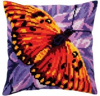 Colection D`Art cross stitch cushion 5308 Butterfly Graphics 2