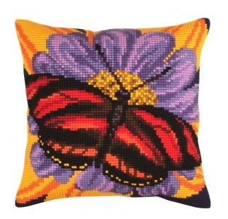 Colection D`Art cross stitch cushion 5307 butterfly