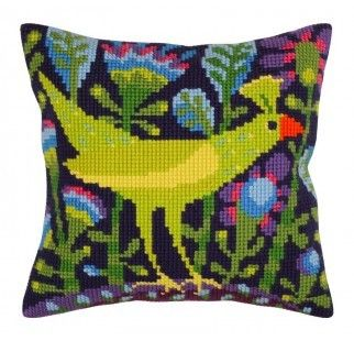 Colection D`Art cross stitch cushion 5298 Bird of paradise