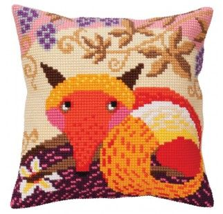 Colection D`Art cross stitch cushion 5295 Birds of paradise