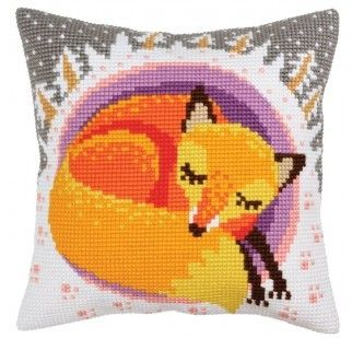Colection D`Art cross stitch cushion 5395 Birds of paradise