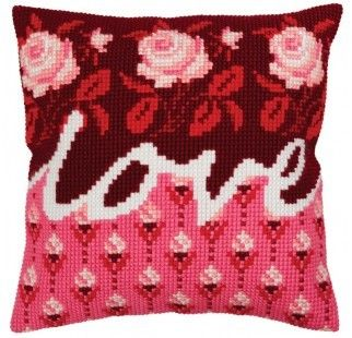 Colection D`Art cross stitch cushion 5332 Love