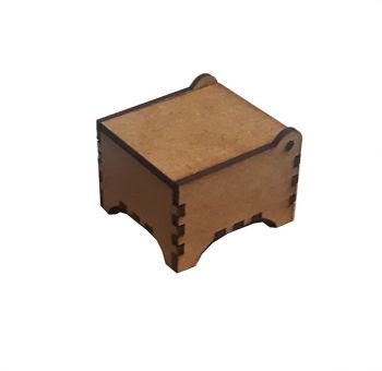 Wooden box square 3/3
