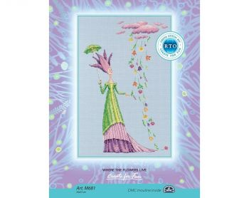 "Cross-stitch kit RTO M6865   ""From a pure heart"""