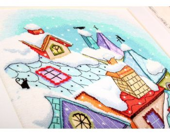 "Cross-stitch kit RTO M656    ""Fairy tales on the roofs"""