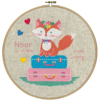 Embroidery kit Vervaco PN-0155355 - SMALL FOX IN TENT