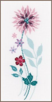 Embroidery kit Vervaco PN-0154588 -   MODERN FLOWERS