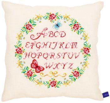 Embroidery kit Vervaco    PN-0153863 -  Alphabet & roses