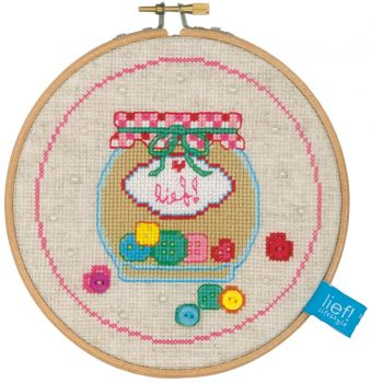 Embroidery kit Vervaco  PN-0155973  - WITH RING CACTUS III
