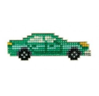 Mosaic with crystals and magnet Collection D'Art DCM036 Blue car
