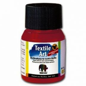 Nerchau textile paint - red bordeax