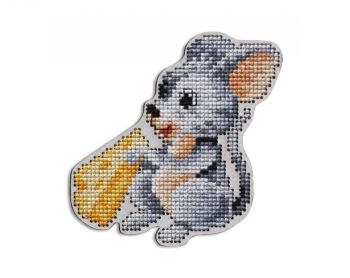 "Cross-stitch kit RTO EHW050  Cross-stitch kit with perforated wooden form ""Parrot"""