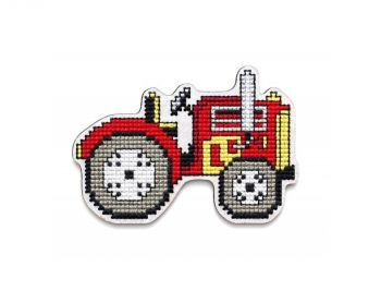 "Cross-stitch kit RTO EHW044  Cross-stitch kit with perforated wooden form ""Car"""