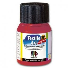 Nerchau textile paint - red for dark fabrics