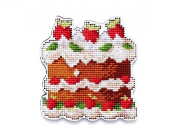 "Cross-stitch kit RTO EHW041  Cross-stitch kit with perforated wooden form ""rabbit"""