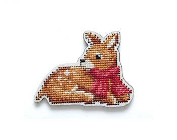 "Cross-stitch kit RTO EHW037  Cross-stitch kit with perforated wooden form  ""Bear"""