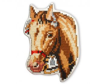 "Cross-stitch kit RTO EHW036  Cross-stitch kit with perforated wooden form  ""Deer"""