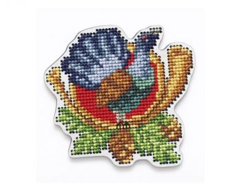 "Cross-stitch kit RTO EHW035  Cross-stitch kit with perforated wooden form  ""horse"""