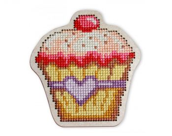 "Cross-stitch kit RTO EHW031  Cross-stitch kit with perforated wooden form  ""Melba"""