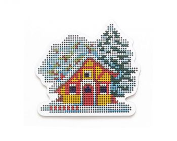 "Cross-stitch kit RTO EHW028  Cross-stitch kit with perforated wooden form  ""Tea"""