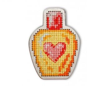 "Cross-stitch kit RTO EHW022  Cross-stitch kit with perforated wooden form  ""Butterfly"""