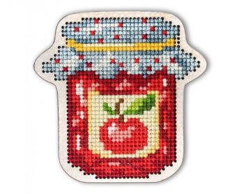"Cross-stitch kit RTO EHW020  Cross-stitch kit with perforated wooden form  ""bottle"""