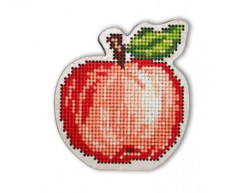 "Cross-stitch kit RTO EHW019  Cross-stitch kit with perforated wooden form  ""Apple jam"""