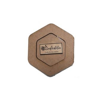 Wooden decoration frame Hexagon oval 5 cm.