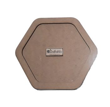 Wooden decoration frame Hexagon oval 14 cm.