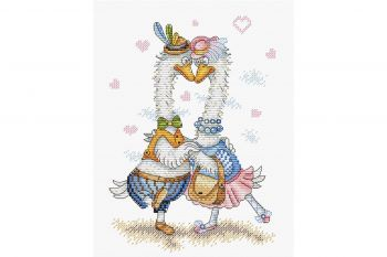 Cross-stitch kit MP STUDIA SM-083 Ramură cu zmeură