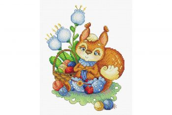 "Cross-stitch kit MP STUDIA SM-502 ""Aroma Melody"""