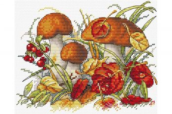 "Cross-stitch kit MP STUDIA SM-236 ""Pasărea de toamnă"""