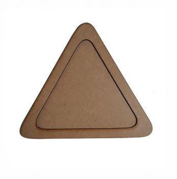 Wooden decoration frame Triangle oval 21 cm.